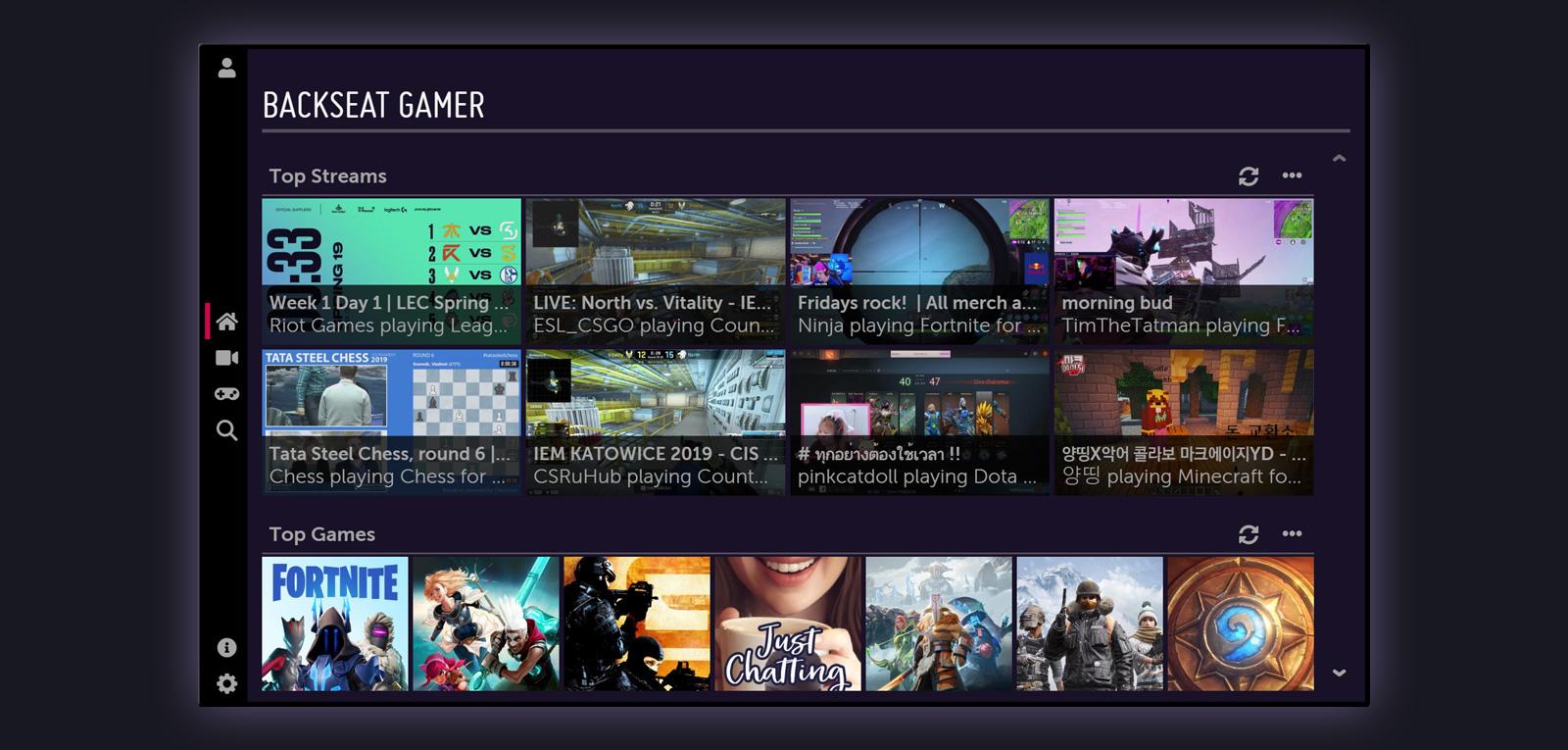 Backseat Gamer For Lg Webos Tv